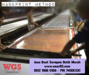 Jasa Buat Seragam Batik Murah handprint